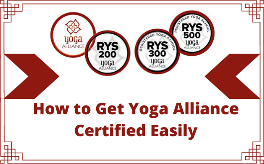 how to get yoga alliance certified easily